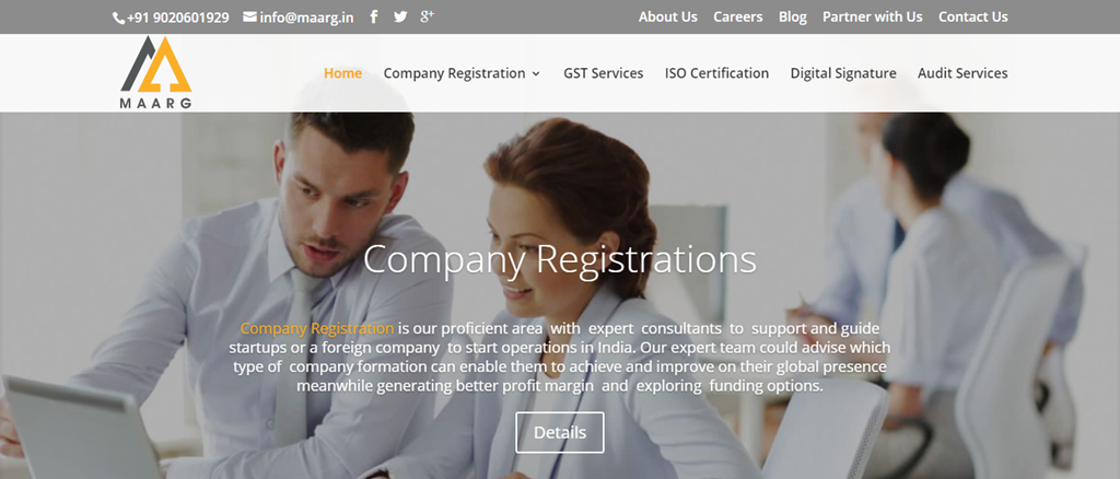 company registration seo ranking